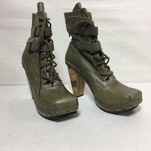 John Fluevog Boot - Size 10 - Military Green